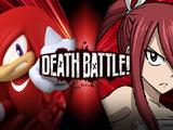 Knuckles the Echidna vs Erza Scarlet
