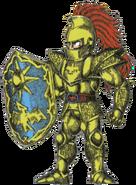 Ghosts 'n Goblins - Sir Arthur wearing Golden Armor and wielding Shield