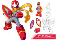 Megaman 11 protoman by ultimatemaverickx-d7tlnr4