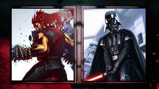 Akuma and Darth Vader are ready
