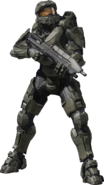 Halo - Master Chief wielding a MA5C Assault Rifle