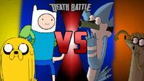 Finn e Jake VS Mordecai e Rigby