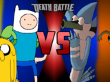 Finn and Jake vs Mordecai and Rigby