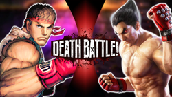 http://deathbattlefanon.wikia.com/wiki/Ryu_vs_Kazuya_Mishima#Death_Battles