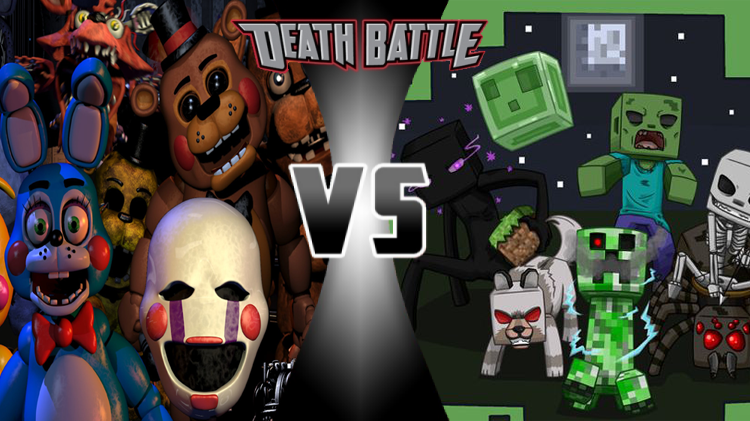 The Minecraft Mobs VS The Animatronics Death Battle Fanon Wiki - Minecraft teleport player to mob