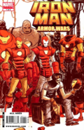Marvel Comics - Iron Man and his Suits of Armors as seen on one of the front page cover
