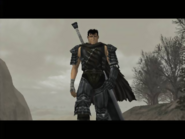 Berserk - Guts as he appears on the Playstation 2 version of Berserk