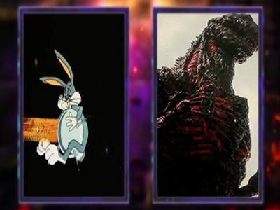 Bugs Bunny vs Godzilla set