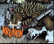 Anguirus vs MG Showa