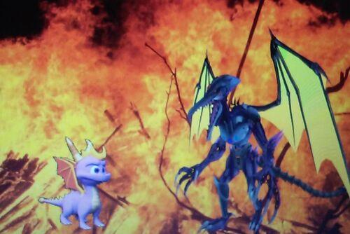 Spyro vs Meta Ridley