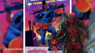 Deadpool making fun of Deathstroke