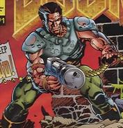 Doom - Doomguy as seen in the Marvel Comics version