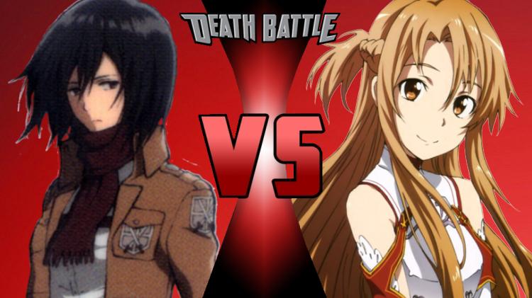 mikasa ackerman vs asuna yuuki