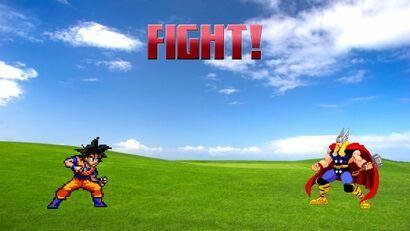 Goku vs thor render