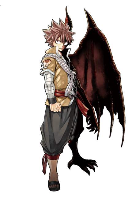 Natsu dragneel half dragon render by ilagbg-db3xyfl