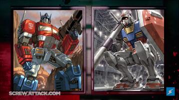 Optimus Prime vs Gundam Combatants