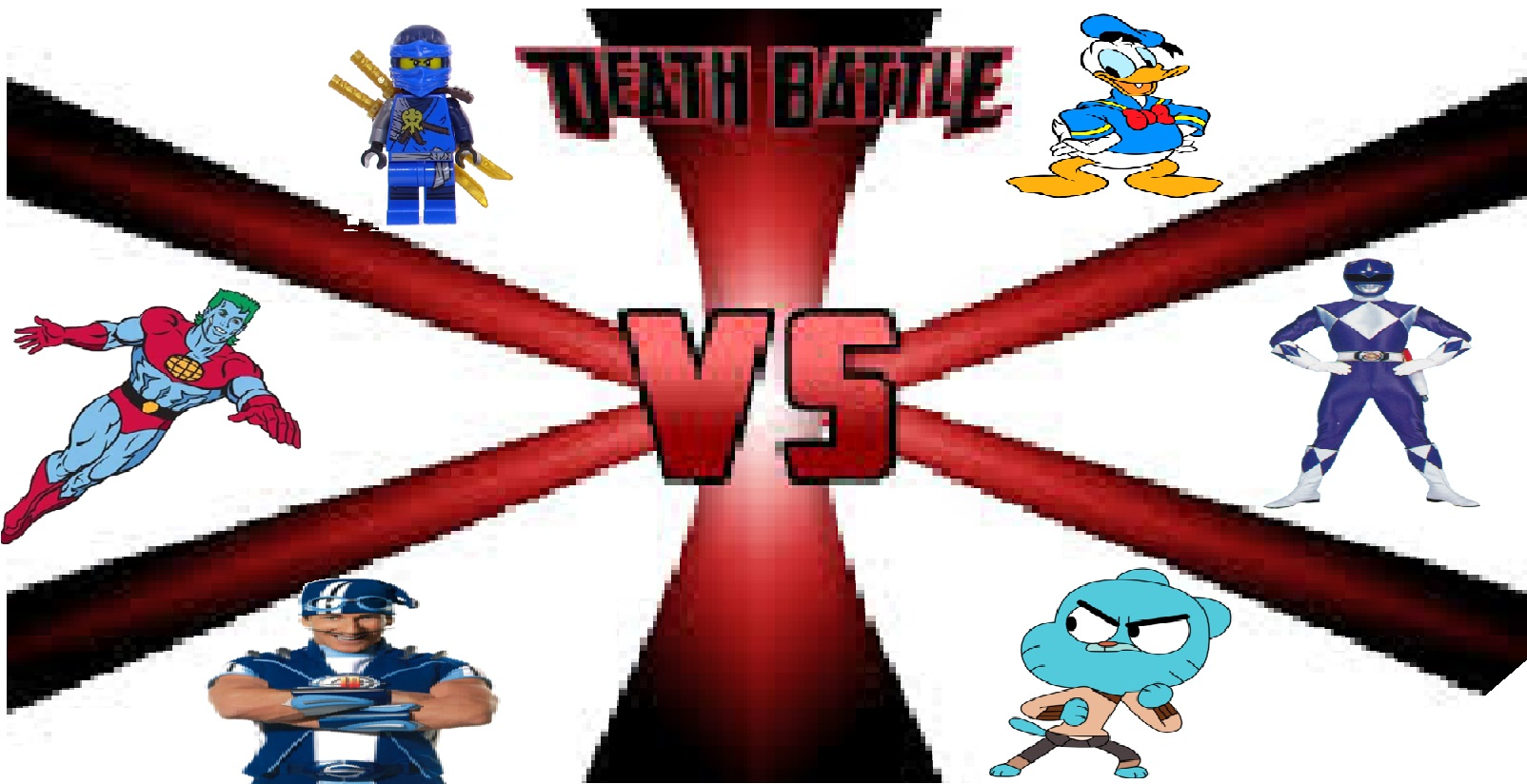 Blue TV Shows Characters Battle Royale | Death Battle Fanon