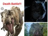 Jurassic Park Tyrannosaurus battle royale