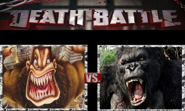 What-if Death Battle George the Ape vs. King Kong 2