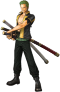 One Piece - Roronoa Zoro as he appears in One Piece Pirate Warriors 3 (a video game released in Japan)