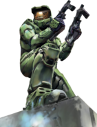 Halo - Master Chief duel wielding two M7 Submachine Guns