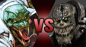 Lizard vs Killer Croc (Alt)
