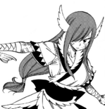 Erza in her Wind God Armor