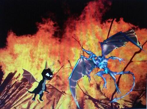 Dark Spyro VS Omega Ridley