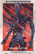 The Terminator - Terminator's endoskeleton as he appears on the poster in his first movie