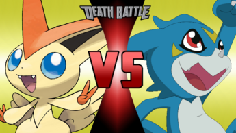 Victini VS Veemon Fanmade