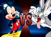Mickey Mouse vs. Bugs Bunny