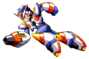 Mega Man X - Mega Man X dashing with his Third Armor