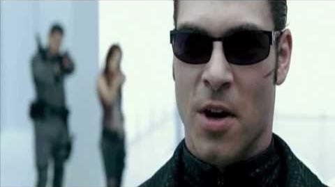Resident evil afterlife- Albert Wesker Vs Chris and Claire Redfield and Alice *Full Fight HD*