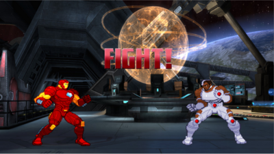 Iron Man vs Cyborg sprites