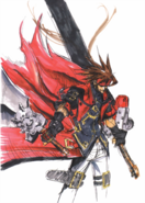 Guilty Gear - Sol Badguy's concept art as seen for Guilty Gear 2