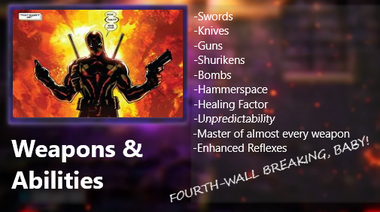 Deadpool weapons and abilities