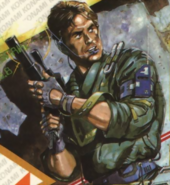 Metal Gear - Solid Snake as he appears in 1987