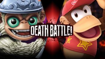 Fling Kong VS Diddy Kong