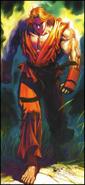 Street Fighter - Ken Masters walking on the field