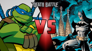 Leonardo (Teenage Mutant Ninja Turtles) X Batman (DC COMICS)