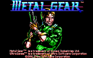 Metal Gear - Solid Snake as he appears on the title screen of Metal Gear