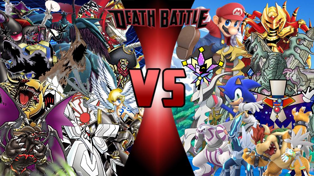 Team Digimon Vs Team Mario Team Pokemon And Team Sonic Death