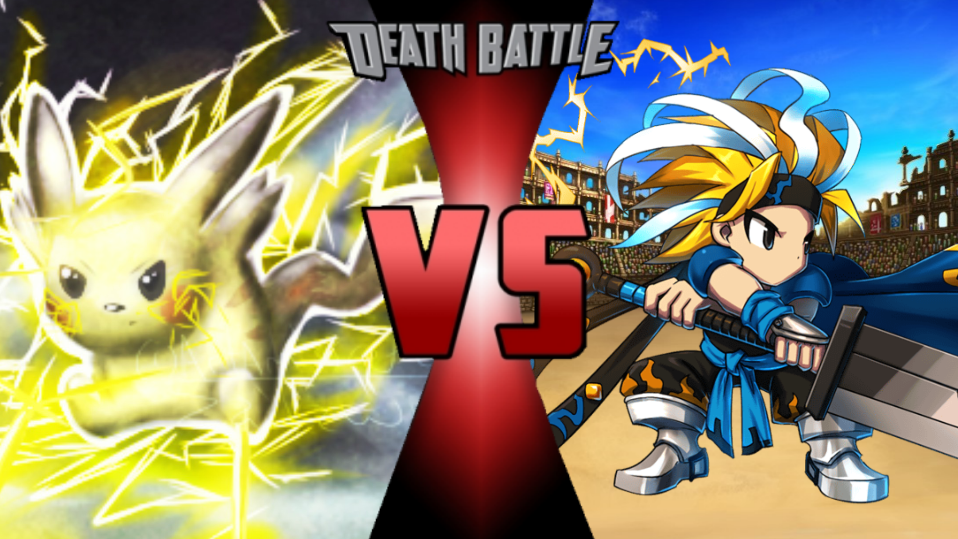 Pikachu Vs Thunder King Eze