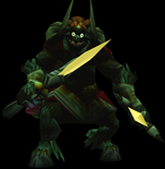The Legend of Zelda - Ganon (Ganondorf) as he appears in Ocarina of Time