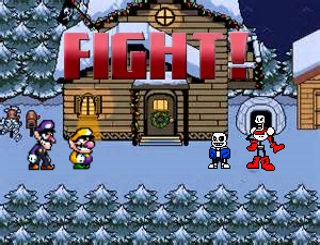 Wario and Waluigi VS Sans and Papyrus FIGHT