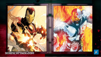 Iron Man vs Cyborg set