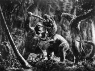 King Kong 1933 Kong vs T-Rex Production Pic