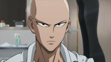 Saitama's serious look