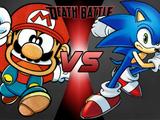 Super Mario-Kun vs Archie Sonic