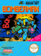 Bomberman - Bomberman as he appears on the front box cover for the NES